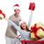 santa christmas couple with a gift stock photo © kurhan