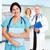 familie · arts · vrouw · gezondheidszorg · glimlachend · medische - stockfoto © kurhan