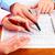 Hands of accountant business woman. stock photo © Kurhan