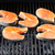 salmon fish roasted on barbecue grill stock photo © kurhan