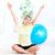 idős · nő · jóga · egészséges · életmód · boldog · fitnessz - stock fotó © Kurhan
