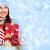 jonge · dame · geschenken · lezing · christmas - stockfoto © kurhan