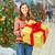 Noel · pazarlık · müşteri · güzel · kadın - stok fotoğraf © kurhan