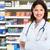 médico · farmacêutico · mulher · sorrindo · médico · mulher · farmácia - foto stock © Kurhan