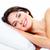 portret · jonge · mooie · slapen · vrouw · bed - stockfoto © kurhan