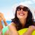 woman wearing sunglasses and a hat stock photo © kurhan
