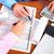handen · boekhouder · zakenvrouw · werken · kantoor · vrouw - stockfoto © Kurhan
