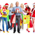 group of happy christmas people with gifts stock photo © kurhan