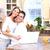boldog · pár · otthon · mosolyog · szeretet · nő - stock fotó © Kurhan