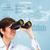 üzletasszony · látcső · diagram · üzlet · szem · munka - stock fotó © Kurhan