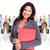 ビジネス女性 · グループ · 労働 · 人 · 孤立した · 白 - ストックフォト © Kurhan