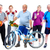 group of elderly fitness people with bicycle stock photo © kurhan