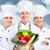 szakács · pék · csoport · profi · izolált · fehér - stock fotó © kurhan