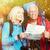 idős · emberek · kettő · kopott · mosolyog · emberek · nő - stock fotó © Kurhan
