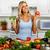 vrouw · broccoli · tomaat · keuken · jonge · mooi · meisje - stockfoto © Kurhan