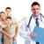 famille · médecin · isolé · blanche · affaires - photo stock © kurhan