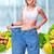 collage · delgado · mujer · dieta · blanco · cuerpo - foto stock © kurhan
