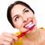 gyönyörű · nő · fogkefe · fogászati · egészségügy · klinika · nő - stock fotó © Kurhan