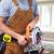 homme · travail · bois · électriques · vu · sécurité - photo stock © kurhan