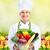 chef man with vegetables stock photo © kurhan