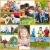 famille · heureuse · collage · vie · ensemble · herbe - photo stock © kurhan