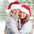 Noel · yaşlı · çift · mutlu · noel · ağacı · yalıtılmış - stok fotoğraf © kurhan