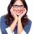 портрет · удивленный · брюнетка · деловой · женщины · очки · Постоянный - Сток-фото © kurhan