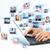 手 · ラップトップコンピュータ · キーボード · ビジネス女性 · オフィス · 手 - ストックフォト © Kurhan