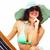 donna · rilassante · spiaggia · isolato · bianco · ragazza - foto d'archivio © Kurhan