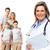 medische · familie · arts · geïsoleerd · witte · vrouw - stockfoto © kurhan