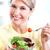 idős · nő · saláta · diéta · egészséges · életmód · nők - stock fotó © Kurhan