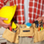 construction worker with helmet and tool belt stock photo © kurhan