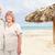 boldog · idős · pár · trópusi · üdülőhely · Karib · vakáció - stock fotó © kurhan