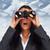 женщину · глядя · бинокль · поиск · успех · зрелый - Сток-фото © kurhan