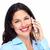 женщину · сотового · телефона · изолированный · белый · модель · волос - Сток-фото © Kurhan