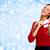 幸せ · 女性 · 封筒 · ギフト · クリスマス · 孤立した - ストックフォト © kurhan