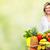 portrait · femme · légumes · femme · souriante · supermarché - photo stock © kurhan