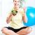 idős · nő · jóga · egészséges · életmód · nők · sport - stock fotó © Kurhan