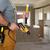 electricista · perforación · escalera · perforación · techo · construcción - foto stock © kurhan
