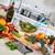 fresco · brócolis · preparação · de · alimentos · alimentação · saudável - foto stock © kurhan