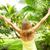 kadın · tropikal · bahçe · mutlu · tatil · palmiye - stok fotoğraf © Kurhan