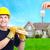 handyman near new house stock photo © kurhan