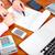 groep · zakenlieden · calculator · professionele · geïsoleerd · witte - stockfoto © kurhan