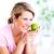 idős · nő · alma · diéta · egészséges · életmód · mosoly - stock fotó © Kurhan