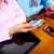 zakenlieden · groep · werken · laptop · handen · mensen · die - stockfoto © Kurhan