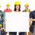 contractor woman and group of industrial workers stock photo © kurhan