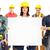 csoport · ipari · munkások · fehér · háttér · állás - stock fotó © kurhan