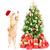 ginger santa cat and christmas tree stock photo © kurhan