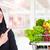 bakkal · alışveriş · Asya · kadın · mutlu · genç - stok fotoğraf © kurhan