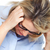 woman having headache stock photo © kurhan